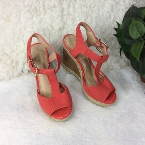 Antonio Melani Coral Wedge Sandals Size 6 M